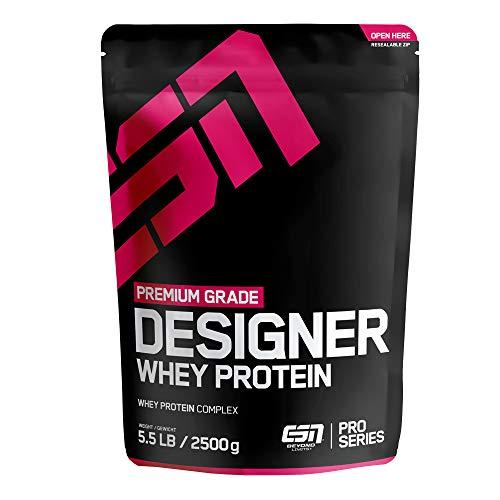 ESN Designer Whey Protein Big Pack – 2500g – Double Chocolate – Eiweißpulver reich an essentiellen Aminosäuren (EAAs) – Sehr gut löslich – 83 Portionen – Made in Germany
