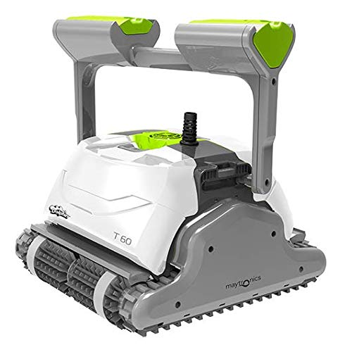 DOLPHIN Robot de Piscine électrique Maytronics T60 – Robot de Piscine Autonome, Nettoyage des Fonds, Parois et Ligne d'Eau, Robot Pilotable Via Application Mobile, Fourni avec Caddy.