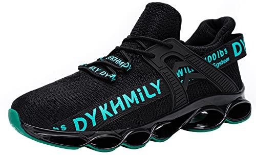 DYKHMATE Zapatillas de Seguridad Hombres Mujer Punta de Acero Calzado de Trabajo TPU Ligero Transpirable Zapatos de Seguridad Anti Choque (Verde,43 EU)