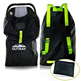 Car Seat Travel Bag with Backpack Straps – Protective Airport Approved Airplane Baggage Gate Check Luggage Storage Sack for Traveling with Booster or Carseat – Universal 2-in-1 Carrying Jacket System
