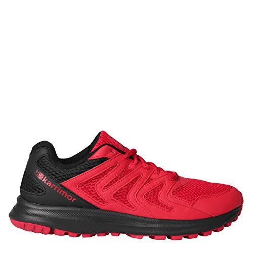 Karrimor Mens Caracal Trail Running Shoes Runners Lace Up Breathable Padded Red/Black UK 10 (45)
