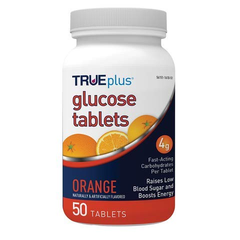 TRUEplus® Glucose Tablets, Orange - 50ct