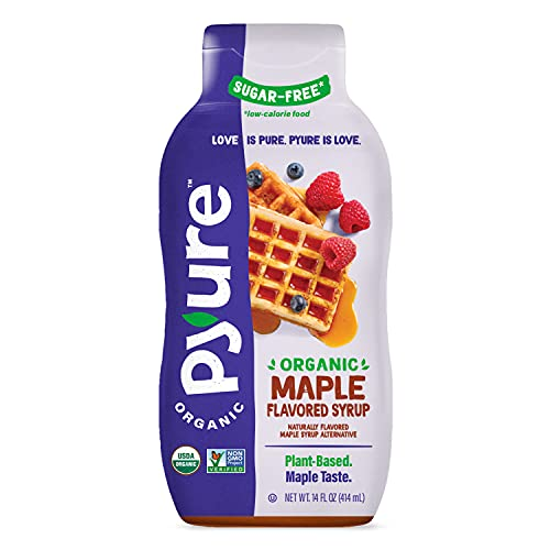 Organic Maple Syrup Alternative by Pyure | Sugar-Free, Keto, Low Carb | 14 Fluid Ounce