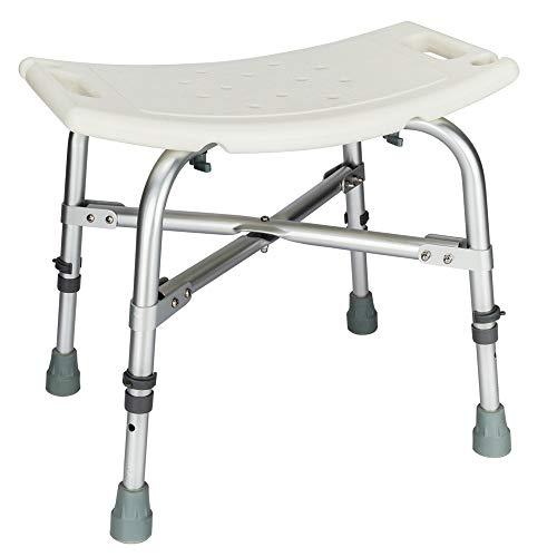 Henf Elderly Bath Chair Heavy Duty Shower Seat Adjustable Height Transfer Bench Bathtub Chair for Seniors, Adults, Pregnant Women(White-Heavy)