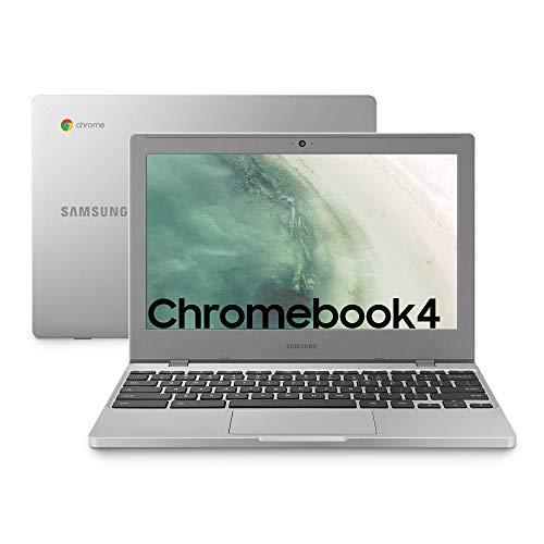 Samsung Chromebook 4, Computer Portatile XE310XBA Chrome OS, Processore Celeron N4000, RAM 4 GB LPDDR4, 64 GB SSD, Display 11.6 Full HD LED, UHD Graphics 600, USB-C, Argento (Platinum-Titan)