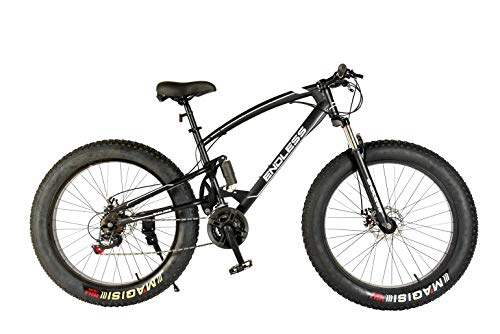 Endless 26T Fat Tyre Double Suspension Mountain Bike (Mat Black)