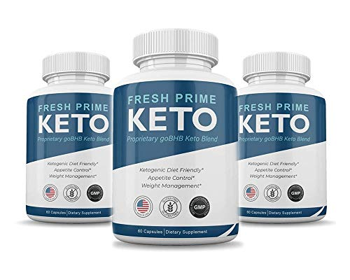 (Pack of 3) Fresh Prime Keto Pills - Proprietary goBHB Keto Blend - Weight Management - 180 Capsules - 3 Month Supply 1