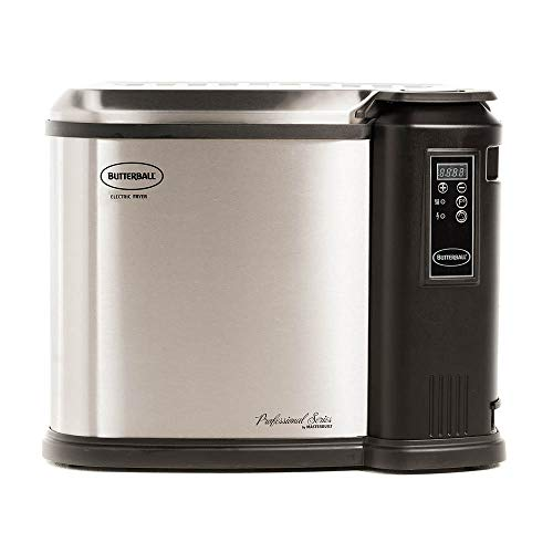Butterball Masterbuilt MB23011518 XXL 1650W Indoor Digital Electric 22-Pound Turkey Fryer with Accessories, Platinum