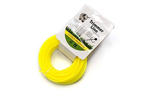vhbw Filo 2.4mm giallo 15m per Tosaerba e Decespugliatore come Bosch, Einhell, Gardena, Husqvarna,...