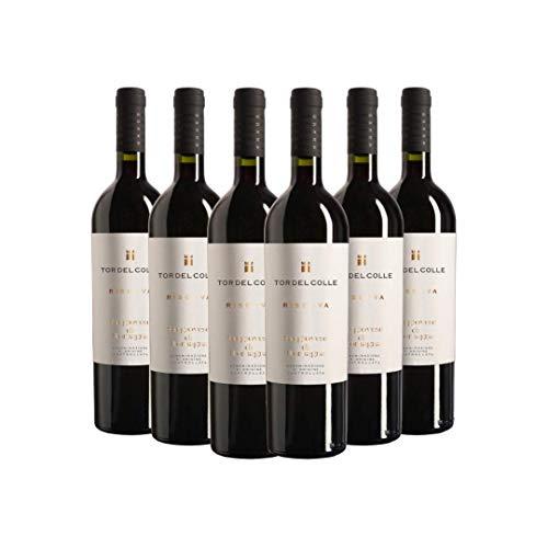 TOR DEL COLLE Sangiovese di Romagna DOC Riserva, Vino Rosso, Ottimo con Arrosti e Formaggi Stagionati, 6 x 750 ml, Made in Italy, 13% Vol