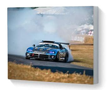 Canvas Print Wall Art Motorsport Dodge Viper Drifting Goodwood Festival of Speed 2018