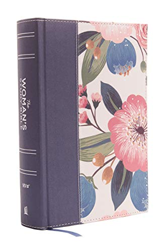 NIV, The Woman's Study Bible, Cloth over Board, Blue Floral, Full-Color, Red Letter: Receiving God's Truth for Balance, Hope, and Transformation