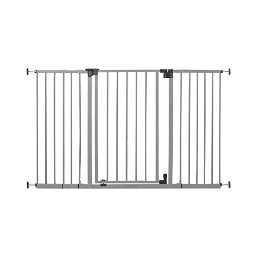 """Summer Secure Space Extra-Wide Safety Baby Gate, Grey, Slate Metal Frame – 30"""" Tall, Fits Openings 28.5"""" to 52"""" Wide, Baby and Pet Gate for Extra-Wide Doorways, Stairs, and Wide Spaces"""