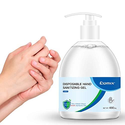 Comix Hand Sanitizer Gel 16 Fl Oz /480ml Alcohol Based, Free Foaming Hand Sanitizer, No Rinse Foam Hand Soap Gel, Kid Friendly, L902