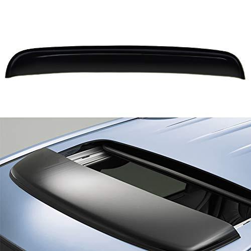 JJ 34inches Universal Thickness Dark Smoke Deflector Tint Top Sun Moon Roof Rain Snow Wind Guard Window Visors Sunroof Moonroof