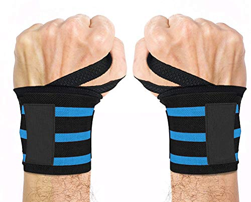 GERBERA Wrist Support Band With Thumb Loop Strap For Men And Women (BLUE)