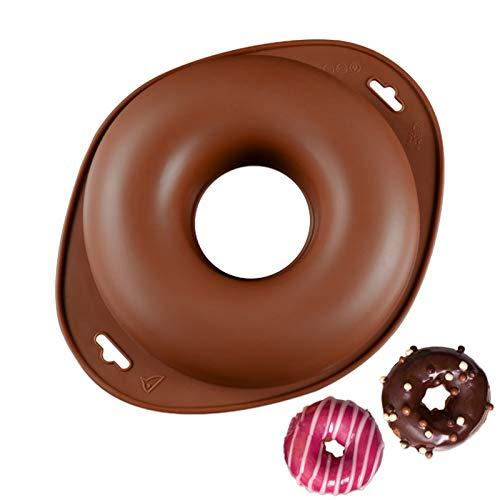 Chikanb Molde Donuts Pastel de Silicona, Grande Forma de Ronda Rosquilla Molde, Antiadherentes de Silicona Donut, Molde de Hornear Pastel para Tartas, Repostería, Bizcocho, Grande Pan, 24 CM