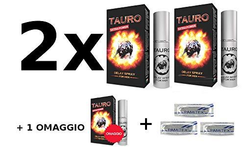 3x Tauro Ritardante Spray Extra Power 5ml + 3 Profilattici in omaggio