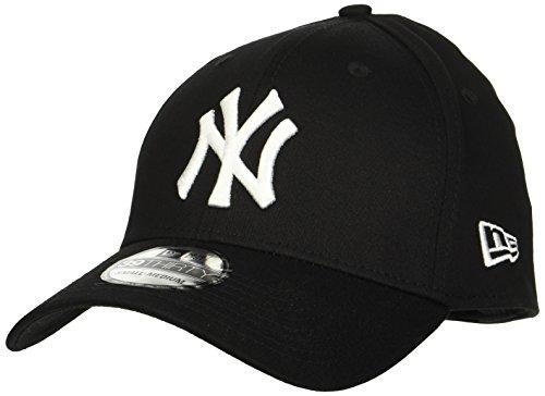 New Era - MLB Basic NY Yankees 39Thirty Stretch Back, Baseball beretto da uomo, multicolore (black/white), S/M