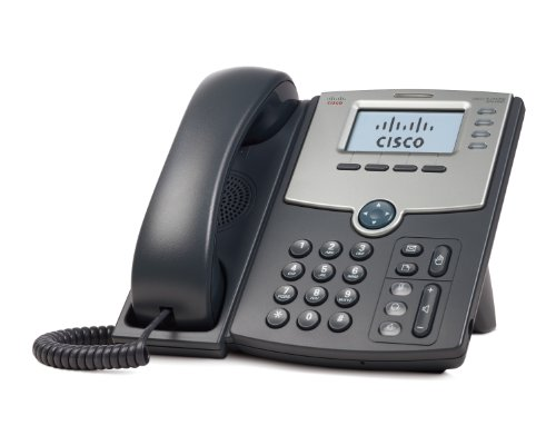 Cisco SPA504G 4-Line IP Phone with 2-Port Switch, PoE and LCD Display, Silver, Grey (Power Supply not Included)