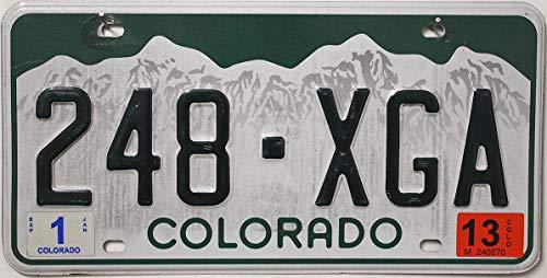 USA Nummernschild COLORADO , Kennzeichen US License Plate , KFZ Metallschild
