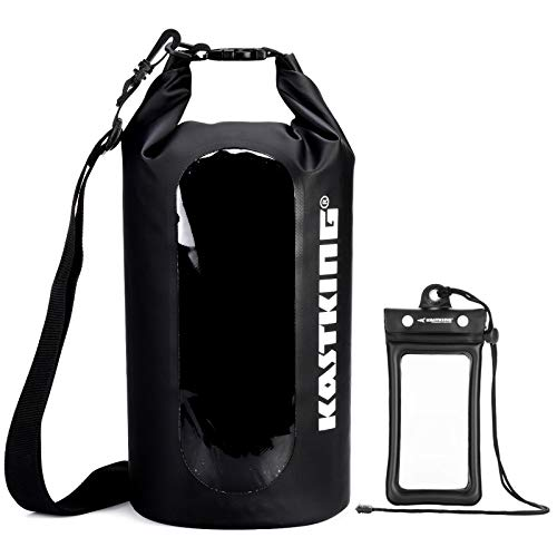 KastKing Dry Bags, 100% Waterproof Storage Bags, Military Grade Construction for Swimming, Kayaking, Boating, Hiking, Camping, Fishing, Biking, Skiing.