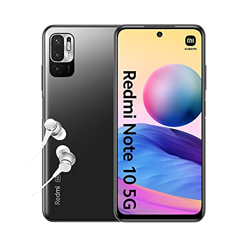 "Redmi Note 10 5G - Smartphone 4+64GB, 6.5"" Écran DotDisplay 90Hz AdaptiveSync, MediaTek Dimensity 700, Triple caméra, 5000mAh, Gris Graphite (Version Française + 2 Ans de Garantie)"