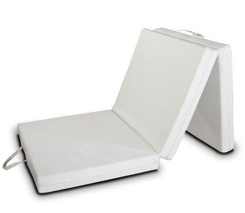 EvergreenWeb Matelas d'appoint Pliant de 10 cm d'épaisseur lit d'appoint lit d'invité futon Pouf Matelas Pliable avec Une Housse Amovible Ultra-Douce et Une Base antidérapante (Futon, 80x200)
