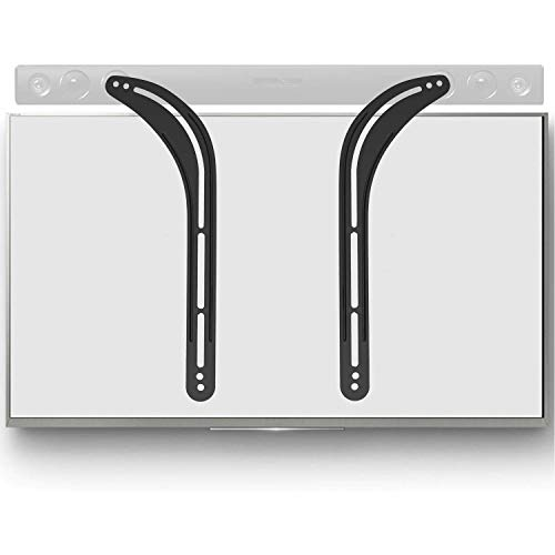 WALI Universal Sound Bar Mount Bracket for Mounting Above or Under TV, Fits 32 to 70 inch TVs, 33 lbs. Weight Capacity (SBR201), Black