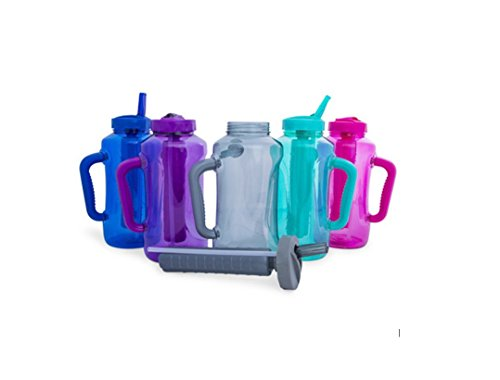 Cool Gear Big Swig EZ-Freeze Hydrate 64oz Water Bottle BPA Free with Twist and Lock Feature (Multicolor)