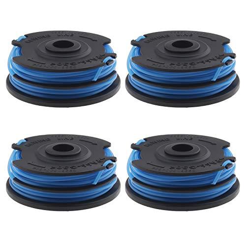 Ototec - Bobina da 4 pezzi e bobine in nylon a doppia linea, 1,65 mm x 7 m, 1 set compatibile con Flymo Contour Greenworks 21052, 2121