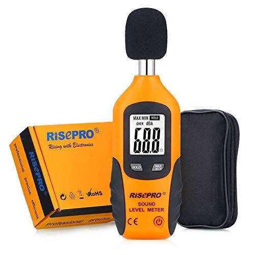 RISEPRO Decibel Meter, Digital Sound Level Meter...