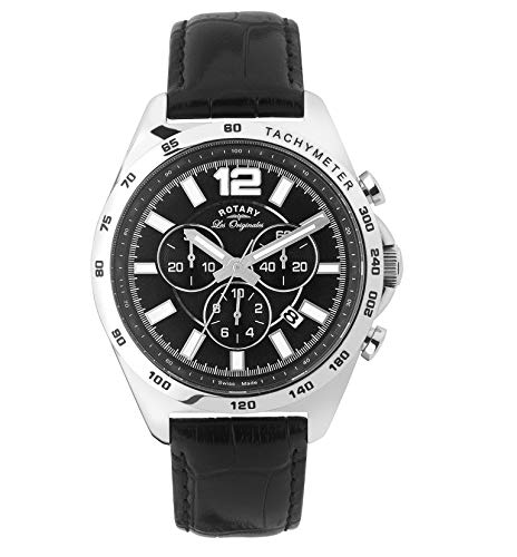 Rotary Herren Uhr Analog Quarz Mit Leder Armband GS90070/04