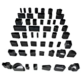 TOYOBER Enhanced 52pcs Shape Style Handmade Hole Hollow Punch Cutter Set for Leather Craft DIY Tool - Leather Belt Phone Holster Punching Tool
