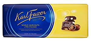 Fazer Whole Hazelnut Chocolate Bar 200g Imported From Finland Makes a great gift Very Delicious! MAY CONTAIN TRACES OF NUTS, PEANUTS, EGG, WHEAT OR THEIR BY-PRODUCTS!