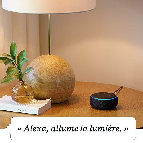 41F9DlWvsrL Bon Plan Hue !  Echo Dot (3ème génération), Tissu sable + Philips Hue White & Color Pack de 2 ampoules LED connectées (E27), compat...