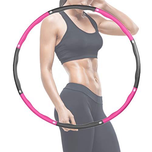Rwest X Fitness Hula Hoop, Sport für Erwachsene und Kinder hulahoop,6-8 Teiliger Abnehmbarer Hula-Hoop-Reifen...