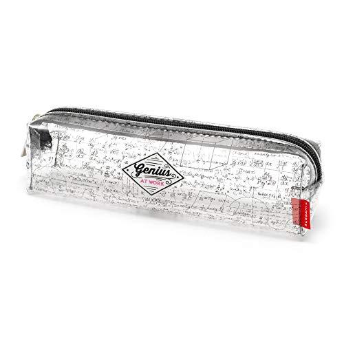 Legami - Pencil Case, Astuccio Trasparente, 19,5x5,5 cm, Genius at Work, Mostra Esattamente Ci che Contiene, in TCU Trasparente, Chiusura Zipper, Capiente