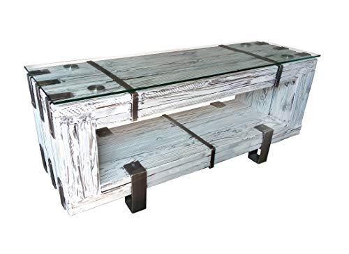 CHYRKA Mobile TV HiFi basso in legno massello BORYSLAW (160 cm)