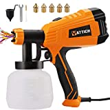 YATTICH Paint Sprayer, 700W High Power HVLP Spray Gun, 5 Copper Nozzles & 3 Patterns, Easy to Clean, for Furniture, Cabinets, Fence, Car, Bicycle, Garden Chairs etc. YT-201