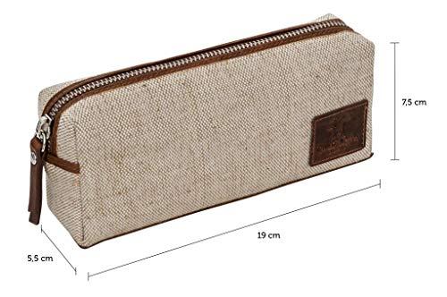 Astuccio di pelle di Gusti Leder - portacolori Franklin portapenne in pelle marrone