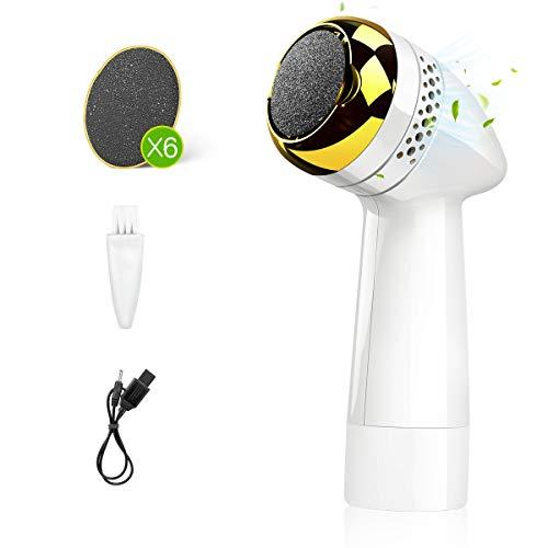 Autobag Elektrischer Hornhautentferner Fußfeile Wiederaufladbar 6 Schleifkopf Automatisches Staubabsaugungs Peeling Schleifen Fußpflege für Füsse