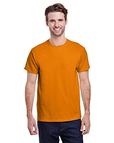 Gildan Men's Ultra Cotton Tee, Safety Orange