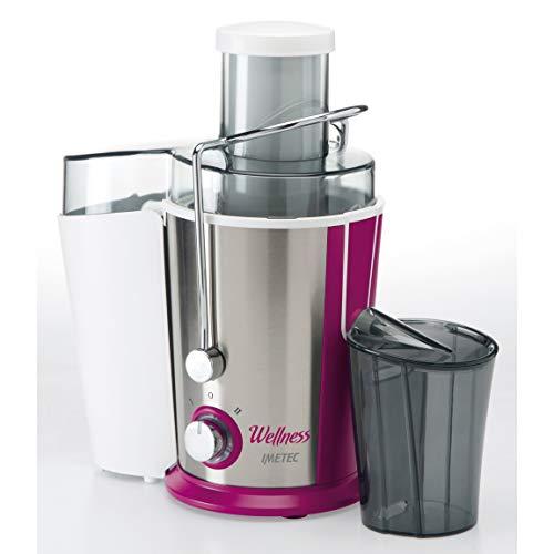 Imetec Wellness JE Centrifuga per Succhi di Frutta e Verdura, 2 Velocit, Filtro Microforato in...