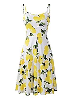 Simple and classic slip dress with soft and lightweight material,provides you a cool feeling in hot summer Features adjustable strappy,floral print and waistline,wear it as a casual dress or as a layering piece Easy match summer dress,goes well over ...