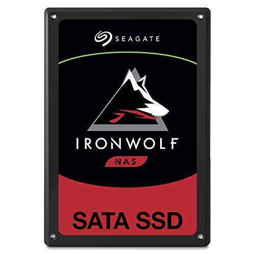 Seagate IronWolf 110 980GB NAS SSD Internal Solid State Drive  2.5 inch SATA for Multibay RAID System Network Attached Storage, 2 Year Data Recovery (ZA960NM10001)