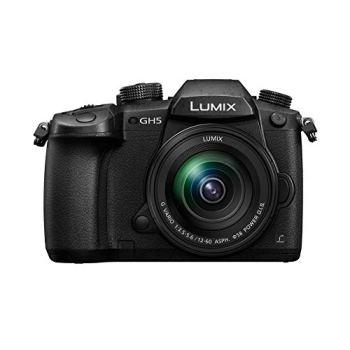 Panasonic Lumix GH5M   Appareil photo Hybride Expert + Objectif Lumix 12-60mm (Capteur 4/3 20MP, Double stab., Viseur OLED, 4K60p/C4K24p 4:2:2 10bit, Tropicalisé) Noir – Version Française