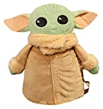 RVTYR 40 * 35 cm Luz Green Star Wars Yoda Muñeca Mochila PP Cotton Relling Light Weight Conveniente y práctico Bolso de la Escuela estudiantil Adecuado para niños Mayores de 14 años Baby Yoda