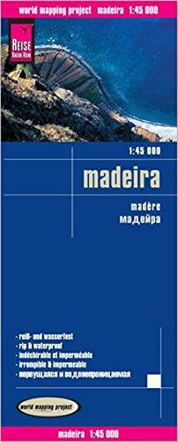 Madeira, mapa de carreteras impermeable. Escala 1:45.000. Reise Know-How.