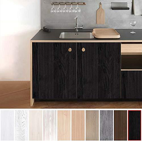 KINLO Pegatina de Mueble de Madera Ropa 0,61 * 5M Autoadhesivo Papel Pintado Impermeable para Muebles/Cocina/Baño Color (1 Rollo, Madera 3)
